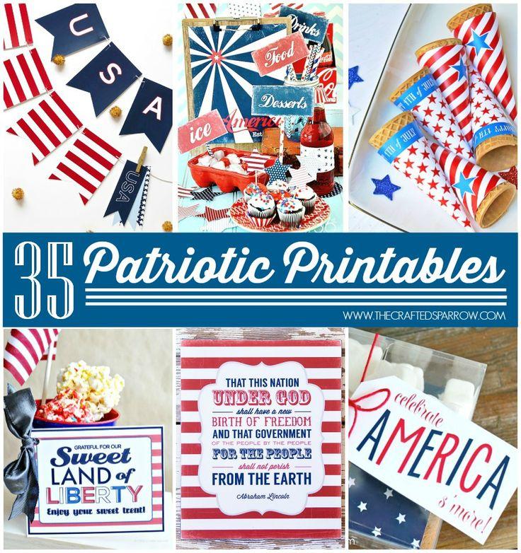 35 Free Patriotic Printables - thecraftedsparrow.com