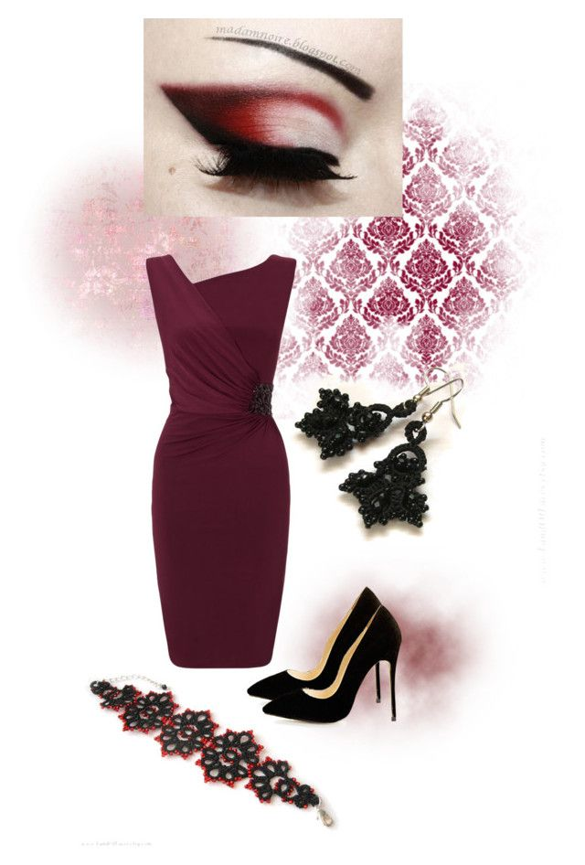 """""""Lacy burgundy"""" by landoflaces on Polyvore featuring moda i Ariella"""