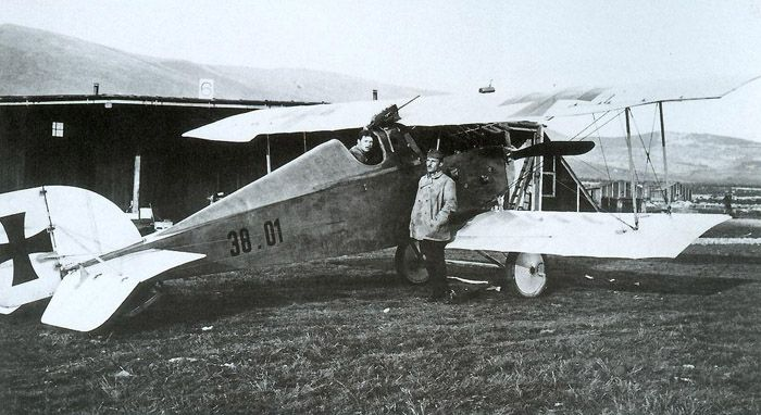 The Aviatik D.I piloted by Karl Sabeditsch