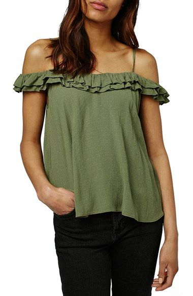 Topshop 'Florence' Ruffle Top available at #Nordstrom