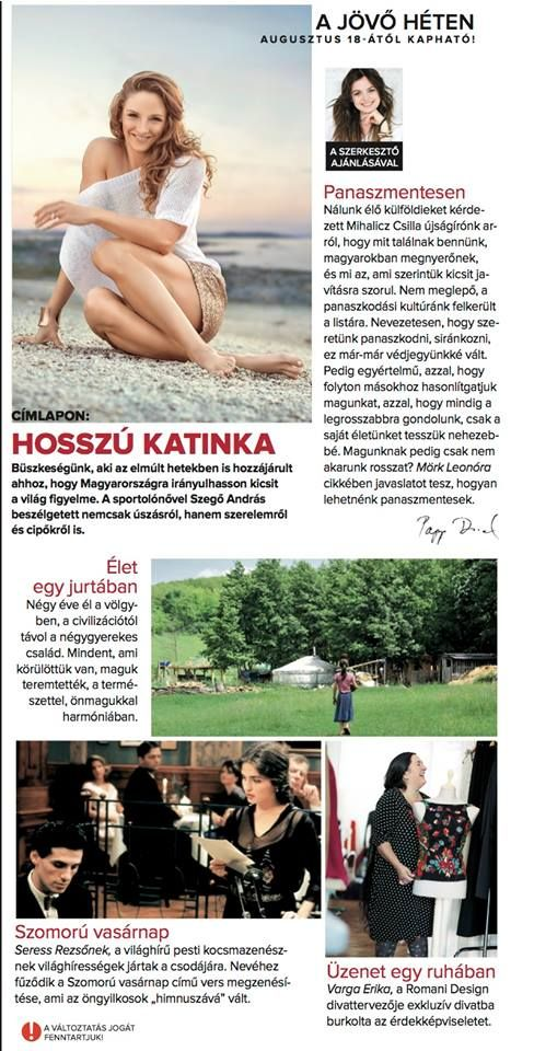 Katinka Hosszu on the cover of Nők Lapja Magazine, Hungary <3