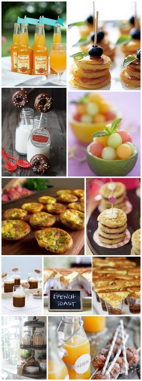 Bite sized breakfast food. I love this whole pin! Wouldn't this be a fun breakfast to have.