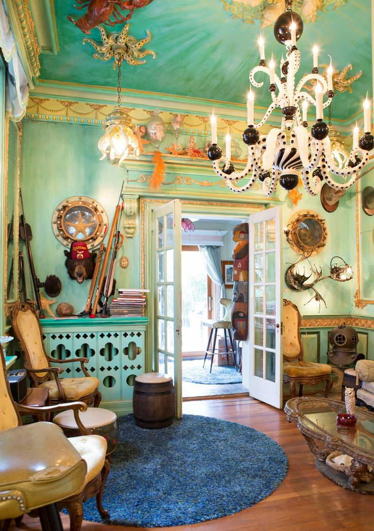 Adam's DIY Ode To Ornamentalism House Tour Octopus Tentacle heaven. This is my dream home.