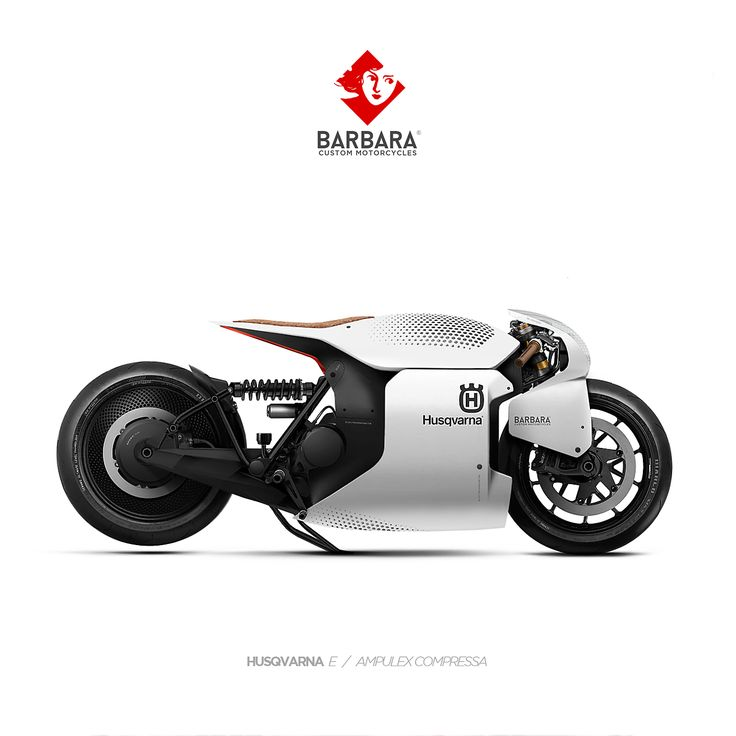 HUSQVARNA E // AMPULEX COMPRESSA Barbara Custom Motorcycles - Photoshop Preparations