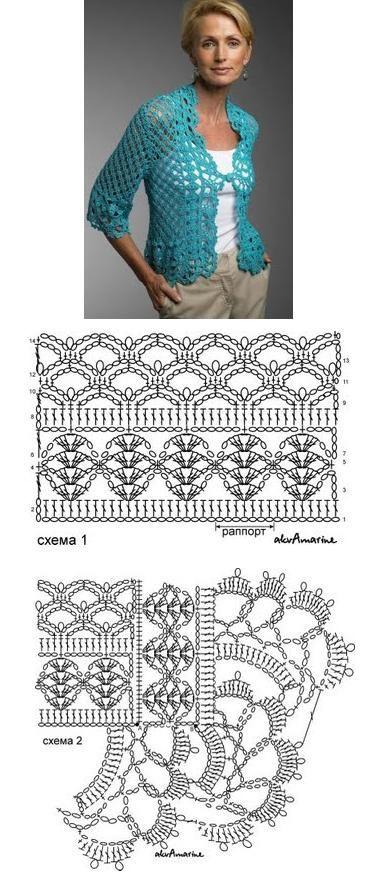 bolero+crochet+celeste.jpg 385×894 pixels