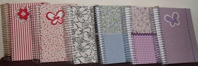 Cadernos personalizados - tecido