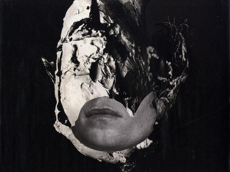 Cherelle Sappleton: Man Made, 2013  #blackandwhite #portrait #collage #contemporaryart www.kidsofdada.com/products/man-made-2013