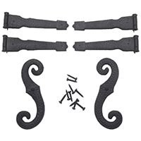 Mid America Shutters Decorative Hinge & S-Hook Kit