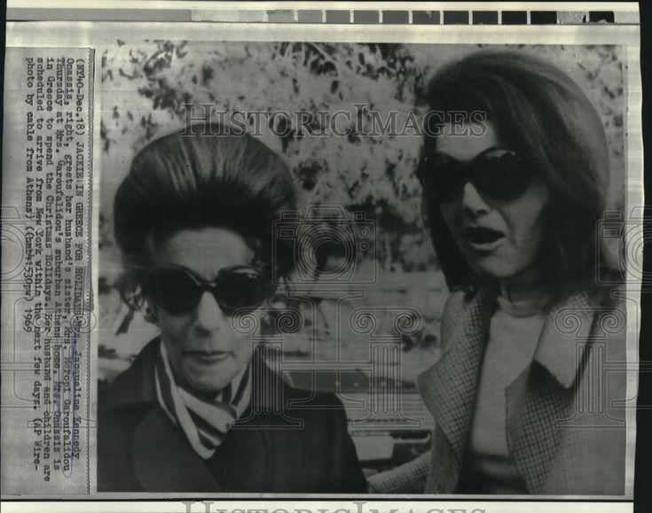 EVGENIA GL 1969 Jacqueline Kennedy Onassis with Maropi Garoufalidou in Rome | eBay