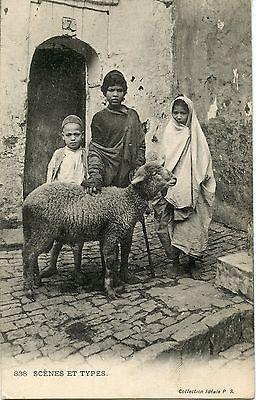 Postcard / Carte Postale / Algerie / Scenes Et Types / Enfants Et Mouton