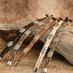 Horsehair Bracelet - Concho for $18.95 at frontieroutfitters.com