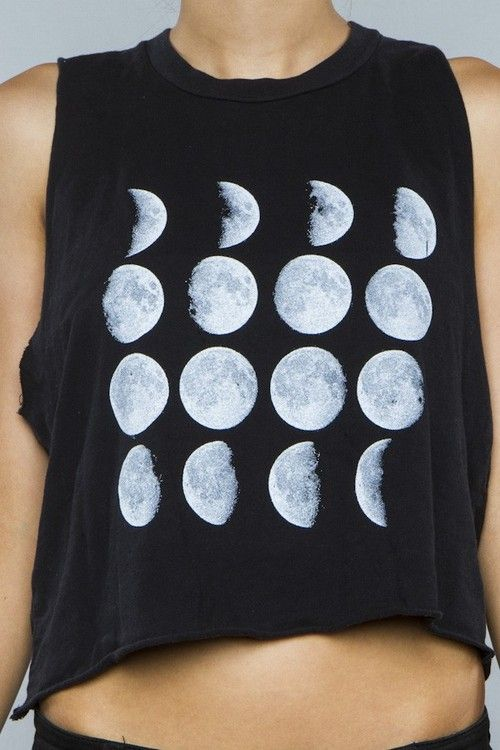 moonBrandy Melvile, Moon Shirts, Crop Tops, Soft Grunge, Tanks Tops, Moon Moon, Muscle Tees, The Moon, Moon Phase