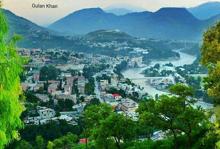 So beautiful view of fantastic city Muzaffarabad Azad Kashmir Pakistan