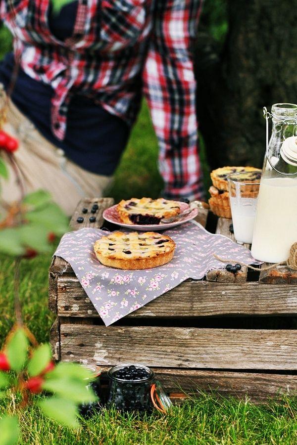 Blueberry Coconut Tarts