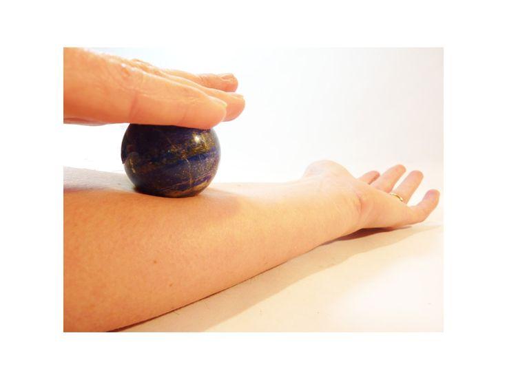 #Boule de #Massage en #Lapis Lazuli #reflexologie