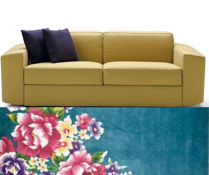 Sofa and sofa bed Melvin, design Alessandro Elli.
