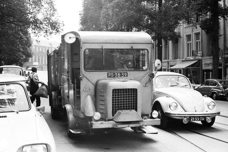 1960's. Garbage truck of the Stads Reiniging (municipal sanitation service) of Amsterdam. #amsterdam #1960 #StadsReiniging