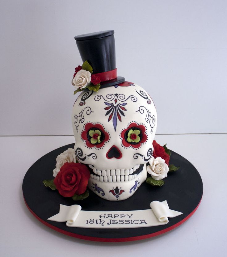 Image result for sugar skull cake