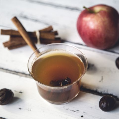 A nice hot cup of spiced apple cider when you come home this evening will warm you to the core! Happy holidays!