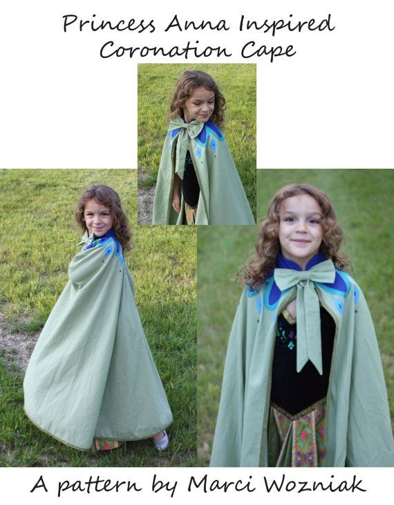 Now available!  My Anna Coronation Cape PDF pattern to go along with my dress pattern!!