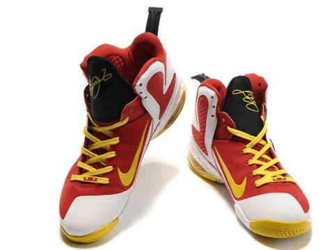 Nike LeBron 9 MVP Employee of the Year,The shoe features a Heat-inspired  palette, with a white-based upper set off by a gradient black-to-red fade  and ...