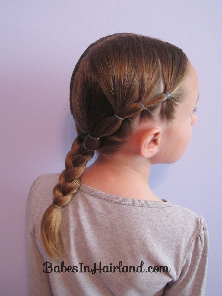 Puffy Braids into a Braid - Great style for keeping hair for sports, etc.