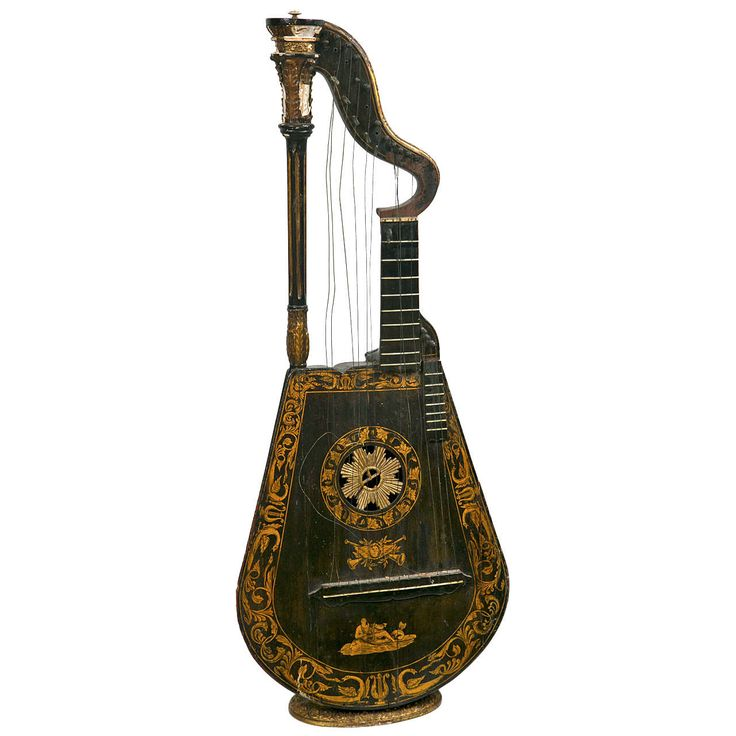 1stdibs Harp Lute Edward Light British