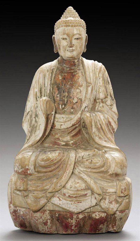 Commit asian wood drawing buddha history