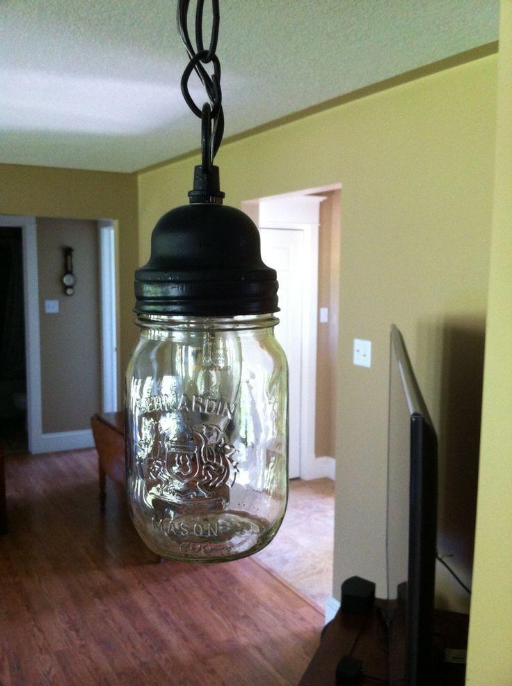 Mason jar light shade