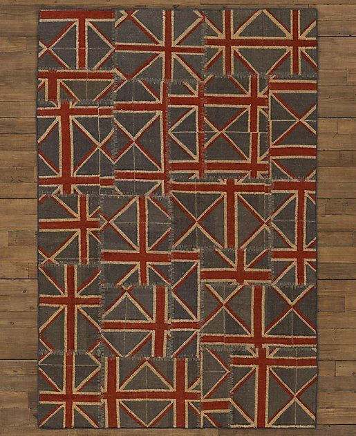 61 best everything union jack images on pinterest for Restoration hardware kids rugs