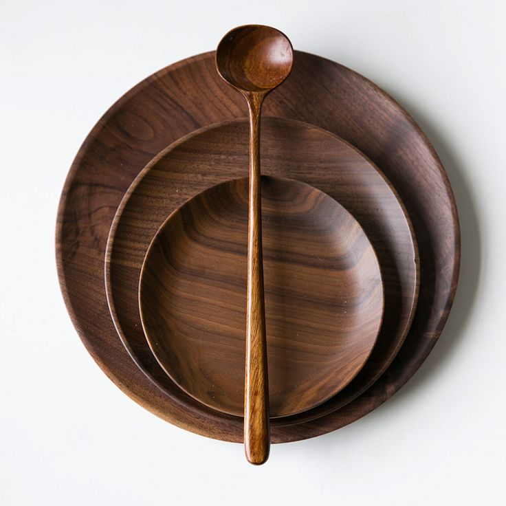 Натурального дерева пластины блюда корзина с фруктами орех тарелки наборы посуды кухонный инвентарь темный орех твердой древесины чаша