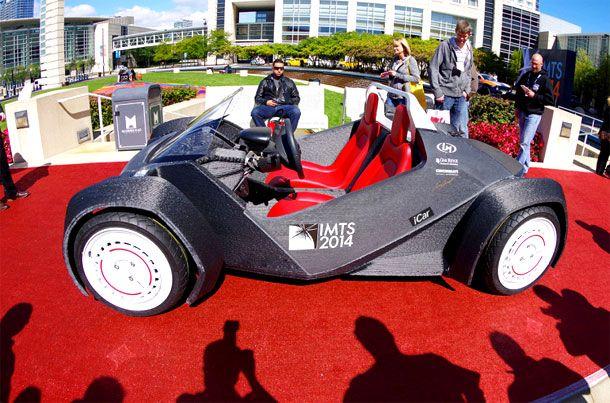 Strati: la prima auto stampata in 3D.