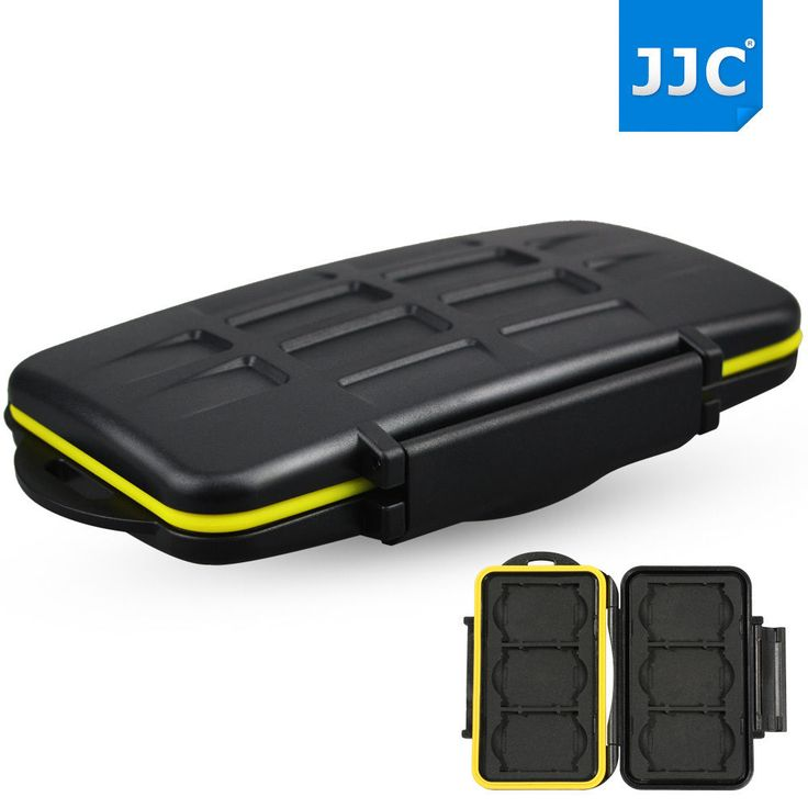 JJC Water-resistant Holder Storage Memory Card Case Protector For 6 XQD Cards #JJC