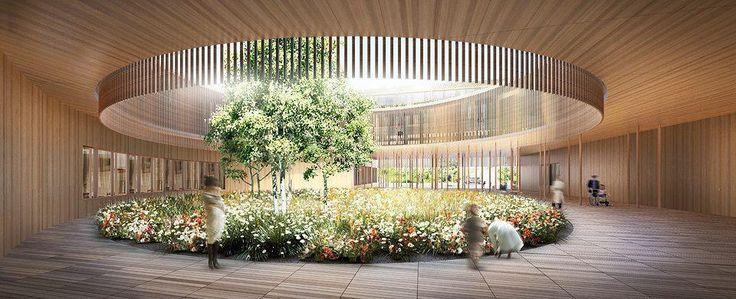 Il progetto per l'ospedale dei bambini prevede due edifici complementari; l'edificio principale, l'ospedale, serve per gli esami e il trattamento di bambini e adolescenti, il secondo è…