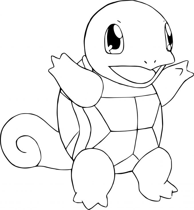Coloriage Carapuce Pokemon Articles Pinterest Pokemon Coloring