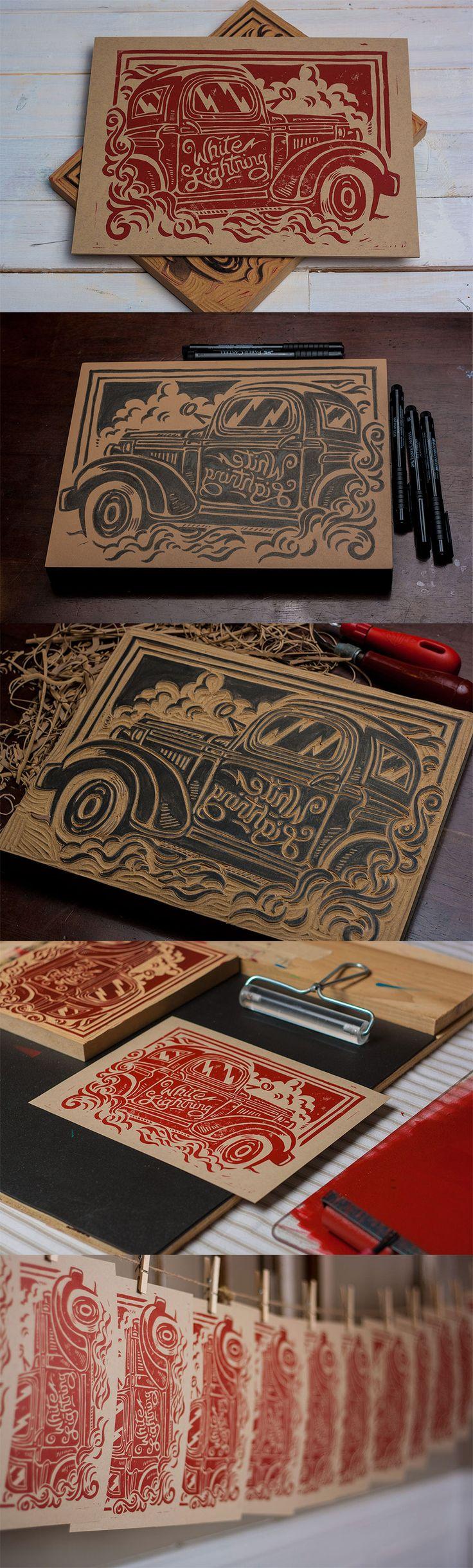 Grabado en madera #xilografia                              …