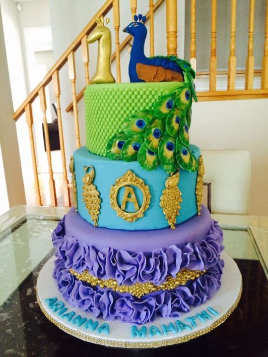 Best Peacock Cakes Images On Pinterest Peacock Cake Peacock - Peacock birthday cake