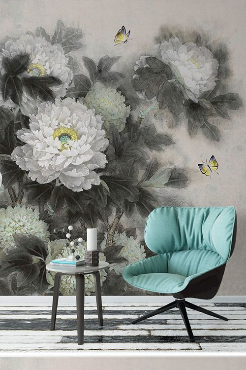 9 best papier peint tapisserie asiatique les pivoines images on pinterest peonies tapestry. Black Bedroom Furniture Sets. Home Design Ideas