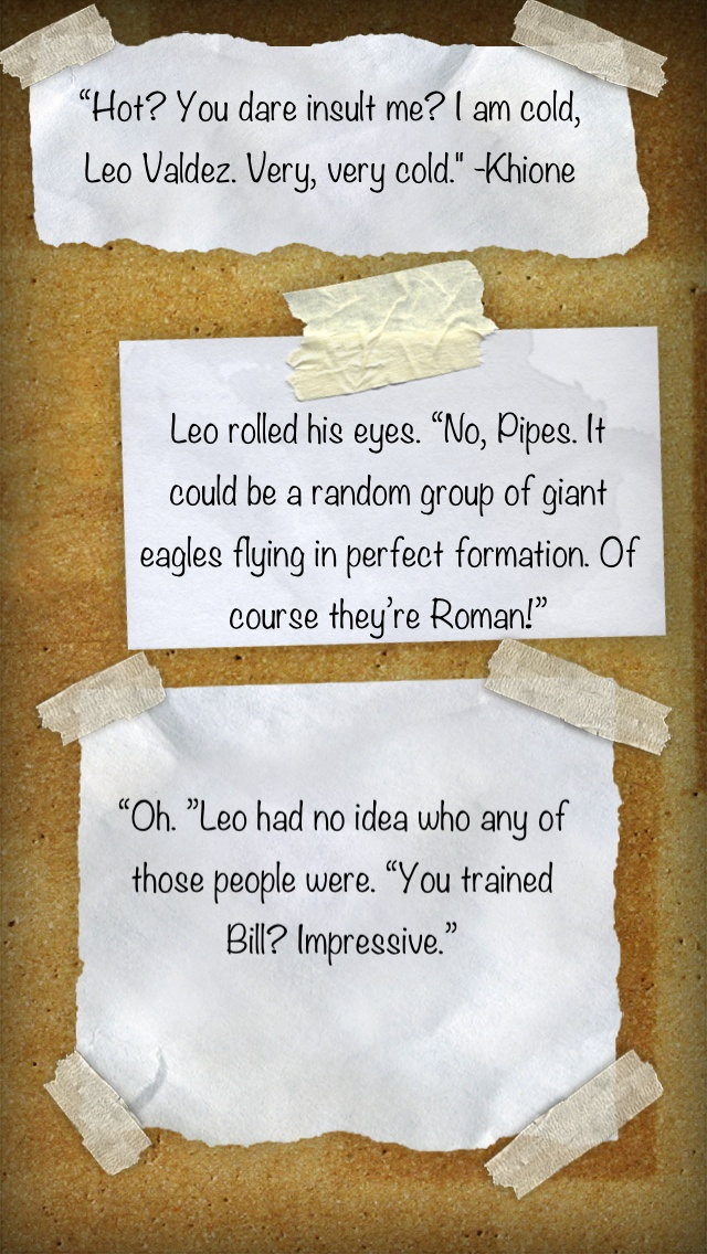 Some of my favorite Leo quotes from the heroes of olympus. Especially Bill.