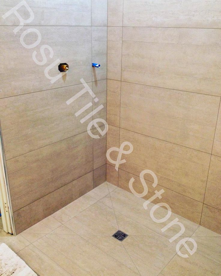 Some 18x36 Tile With A Curb Less Shower Pan Bathroom