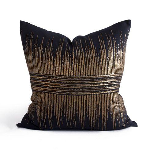 Bliss Studio Vionnet Black Throw Pillow @Zinc_Door