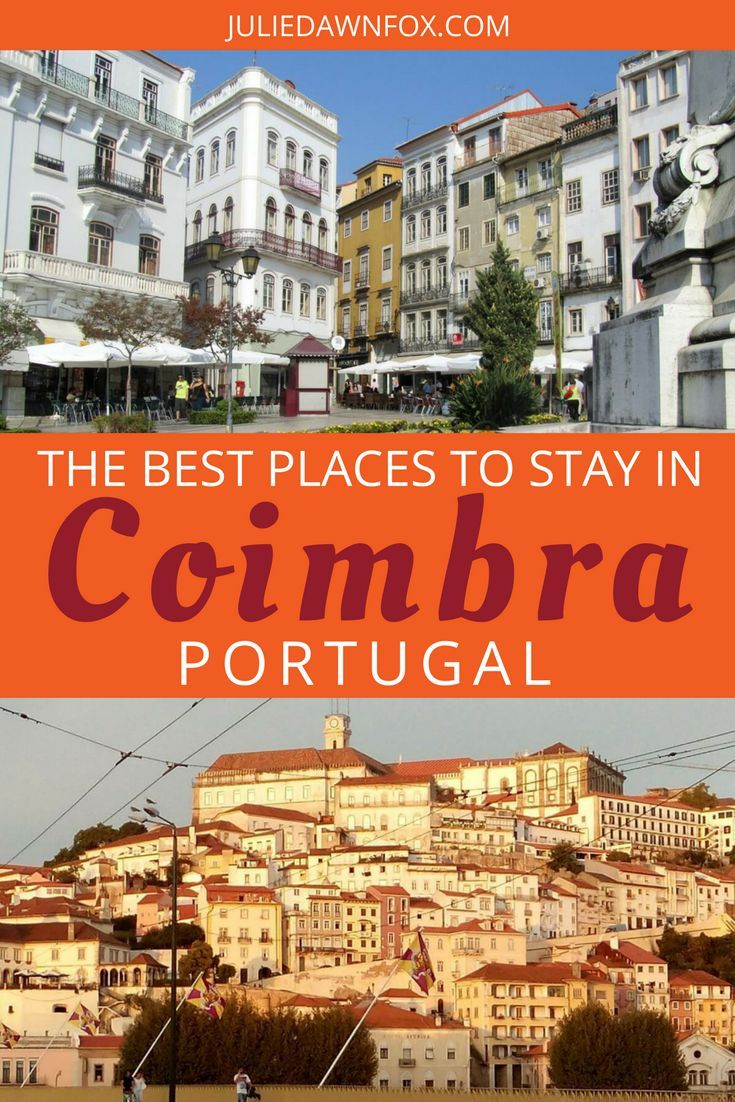 Whether you spend one night in this charming riverside city or several, my insider tips should help you decide where to stay in Coimbra. Click through to find out the best Coimbra hotels and apartments that I consider to be stylish, well-located and good value in three distinctly different parts of the city. Coimbra makes a great base for exploring central Portugal and deserves a couple of days just to explore the city itself. | Julie Dawn Fox in Portugal #portugal #accommodationguide…