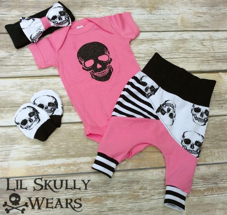 Sugar Skull Newborn Coming Home Outfit
