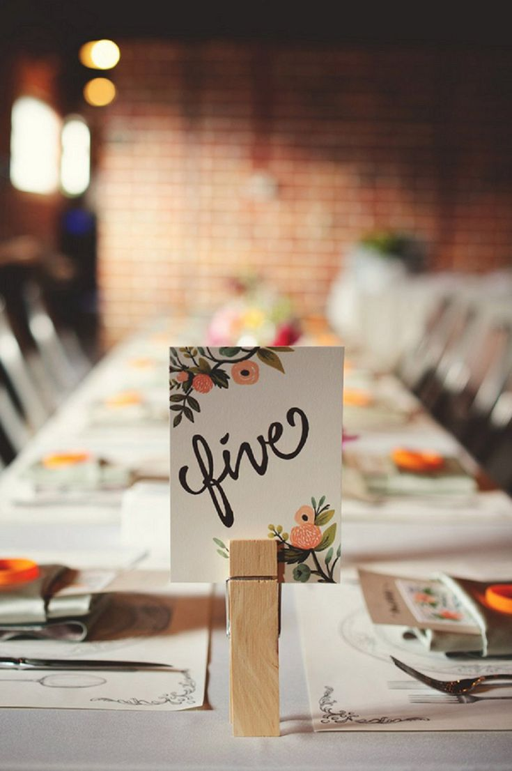 Love these table numbers by Rifle Paper Co! photo by http://www.jmizephotography.com