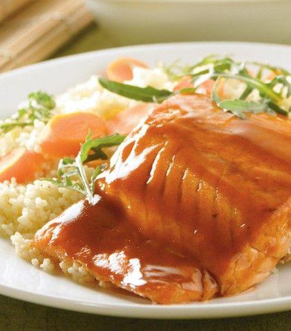 """""""Couscous con salmón a la miel y jenjibre"""""""