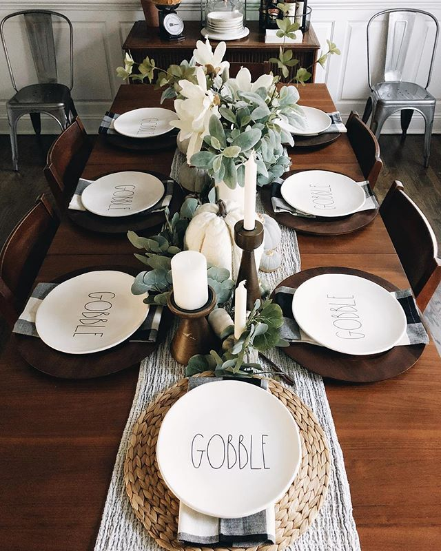 I Went To Target This Morning For A Few Things We Needed And Of Course Lots We Didn T And Ca Farmhouse Dining Rooms Decor Fall Dining Room Dinner Table Decor