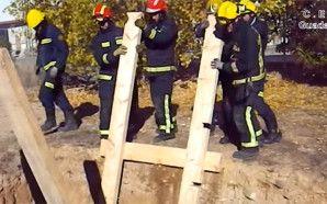 Entibación a una altura menor de 3 m. Vídeo de los compañeros del CEIS Guadalajara.