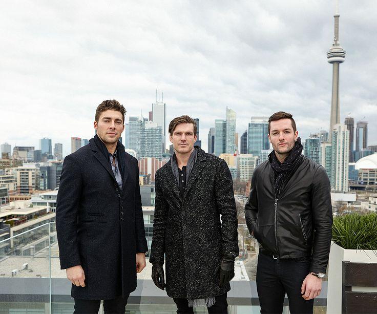 Joffrey Lupul, David Clarkson, and Jonathan Bernier