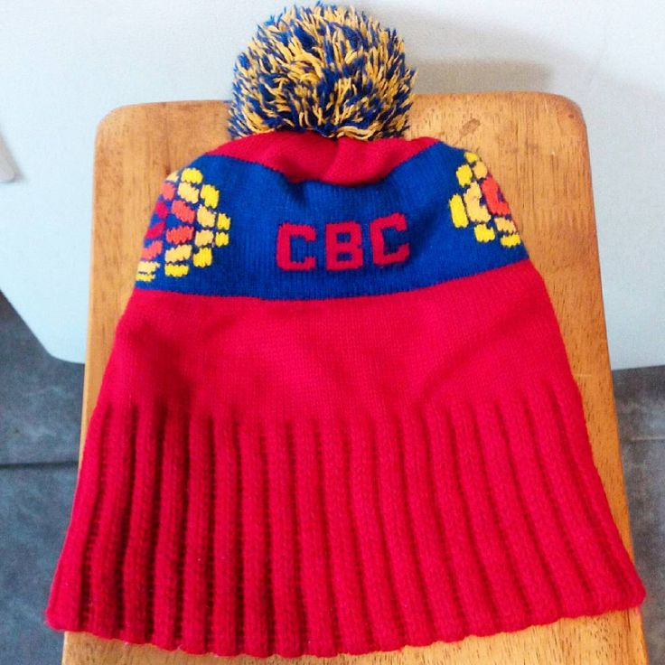 Vintage CBC acrylic knit toque.  A thoughtful gift for a CBC fan.