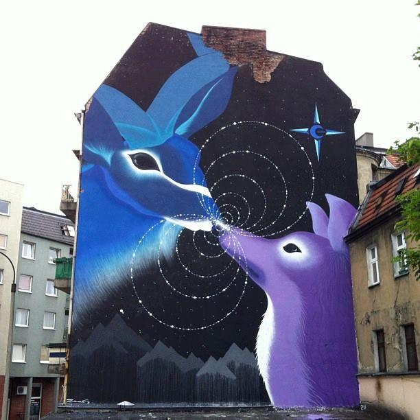 Poznan Poland, ul.Poznańska, Festiwal Outer Spaces 2013, made by Marina Zumi